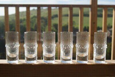 Set of 6 Tapio Wirkkala Niva 7.5cm Shot Glasses - Iittala Finland