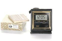 NEW Vintage Seiko Quartz Alarm Chronograph QEK 205K Travel LCD Alarm Clock