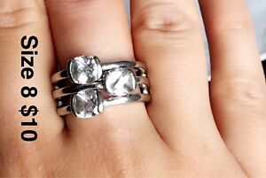 Rings size 5-8 Sterling Silver