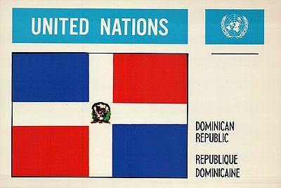 Dominican Republic --- Flags of the World --- United Nations, UN Postcard](Flags Of The Nations)