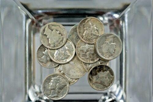 MERCURY  DIMES Lot of (16) Mixed Dates  - 1916 - 1944   M-428 😊