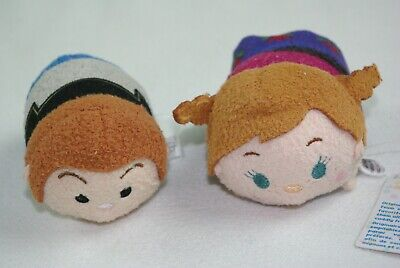 LOT 2 DISNEY TSUM TSUM PRINCESS ANNA PRINCE HANS FROZEN TOYS STUFFED PLUSH