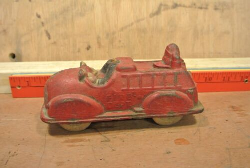 Vintage Mickey Mouse & Donald Duck Fire Truck Toy
