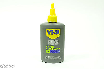- WD40 Bicycle Chain Lubricant Dry Conditions Bike Lube 4oz Drip Bottle WD-40