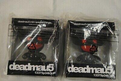 2 X DEADMAU5 Negro Y Rojo Mini-Altavoz Thingie Nuevo Oficial MP3 Ipod...