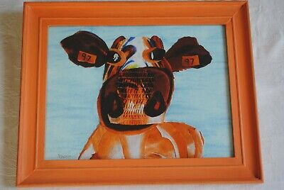Original Art Cow Picture Collage of a Cow -  By Sally Marshall 2016