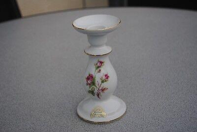 Lindner Moosrose Porzellan Kerzenständer,Kerzenhalter,1 flammig,Höhe 15cm