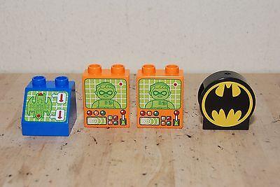 Lego Batman Computer System 3 screens and batman symbol Block, Batwing Robin
