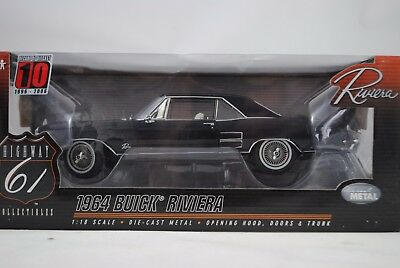 1:18 Highway 61 50371 1964 Buick Riviera Black New/Boxed $
