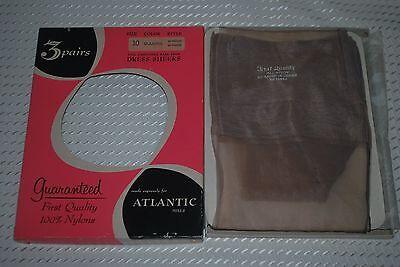 """2 Pair New 10 34"""" Full Fashion Glamour Vintage Nylon Stockings"""