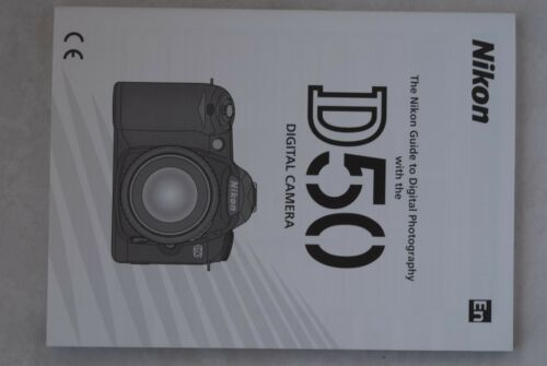 Original Nikon D50 Instruction Book Manual