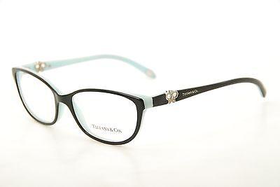 bf3d64b7f406 New Authentic Tiffany & Co. TF 2051B 8055 Black/Blue 53mm Eyeglasses Italy  RX