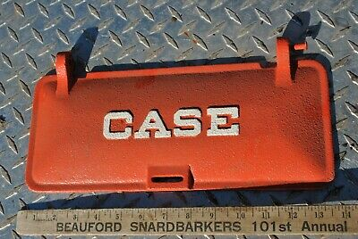 Original Vintage Case Tractor Machinery Company Cast Iron Tool Box Lid
