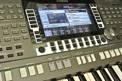 YAMAHA PSR-S970/770 Keyboard Schutz-Stickerset NIGHT Design 2 Display, Vol, Left