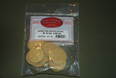 Wonder Lube Shooting Patches, .50-.59 Caliber - $10.00