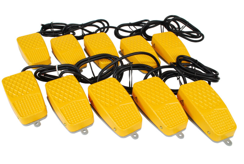10 pcs TEMCo Aluminum Foot Switch 10A SPDT NONC Electric Pedal Momentary New LOT
