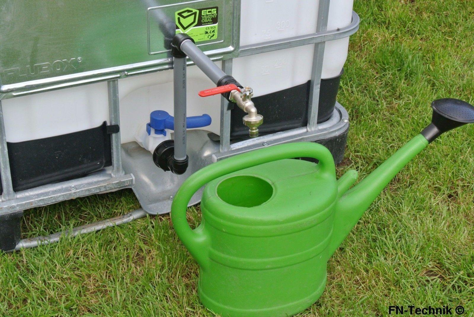 Schwanenhals DN 50 IBC Adapter Container Regenwassertonne Wasserfass Gardena kom