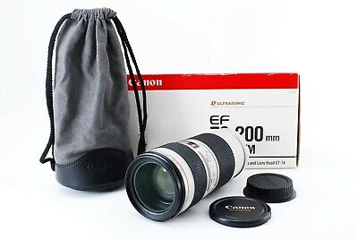 Canon EF 70-200mm f/4 L USM White L Lens [Excellent++++] B0010 From Japan!
