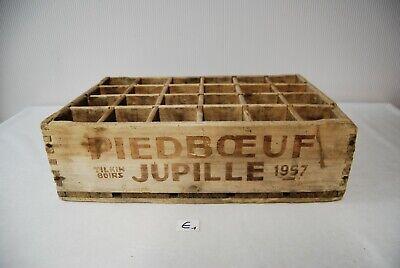 E1 Ancien cageot - Caisse - PIEDBOEUF JUPILLE 1957 rare - brasserie