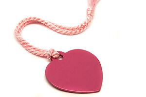 Personalised-Pink-Aluminium-Heart-Bookmark-Gift-Box-Choice-of-Tassel-Engraved