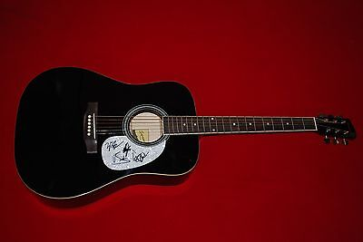 A THOUSAND HORSES 1000 signed full size acoustic guitar C.O.A.