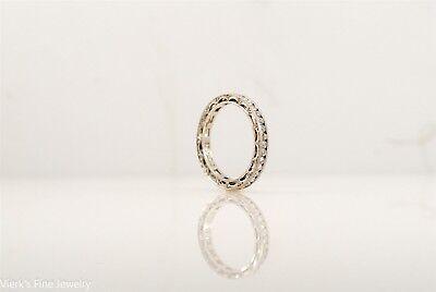 Tacori Reverse Crescent Platinum Diamond Eternity Ring Wedding Band #HT2510B (Tacori Eternity Ring)