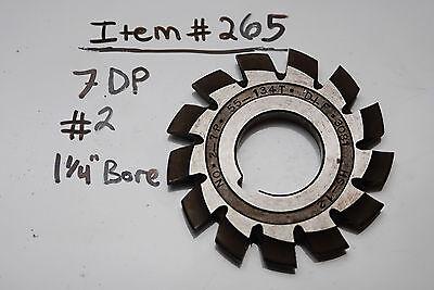 Gear Cutter 2 7dp 114 Bore Usa Made - 7dp 1 14 Arbor