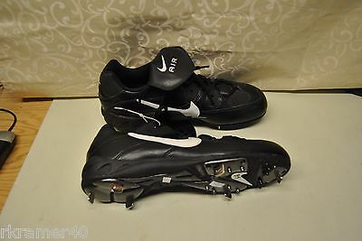 Nike Air Slider (Nike Air Slider Cleats Metal 115105 011 Size 8.5 B & W Low Cut  FREE SHIPPING )