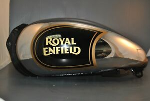 Royal Enfield Bullet Gas Tank Black and Chrome Part Number 866150