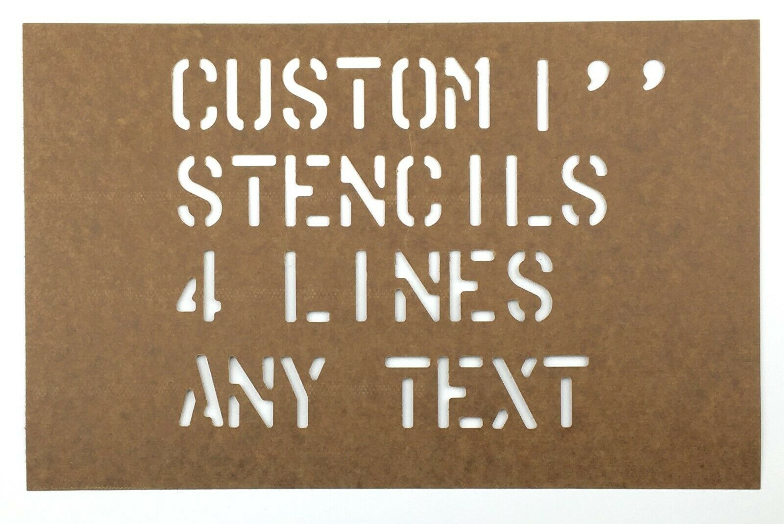 """Home Decoration - CUSTOM STENCIL 1"""" 4 LINES 28 CHARACTERS PER LINE MILITARY USN USMC ARMY NAVY"""