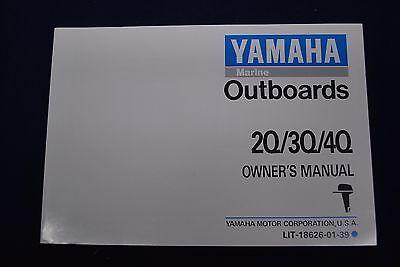 Yamaha 2hp 3hp 4hp Q Owners/Operators Manual Outboard  LIT-18626-01-39