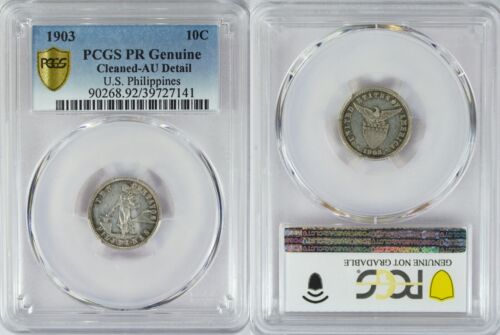 1903 US/Philippines 10 Centavos PROOF ~ PCGS AU Details ~ Allen#7.01 ~ 141