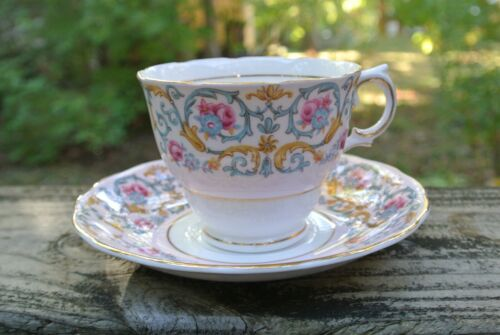 "Vintage Colclough Bone China Teacup & Saucer ""Pattern 6742"""