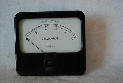 Vintage Simpson Microamperes Meter Untested Dc