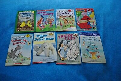 Set of 8 Level 1 and 2 Books, I Can Read, Clifford's Puppy Days, Scholastic