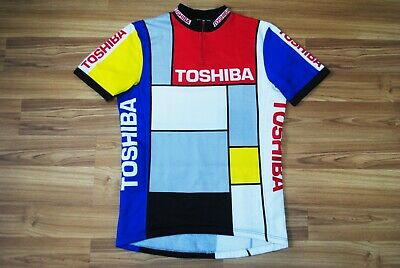 Brand New Retro Team La Vie Claire Wonder yellow green polka Cycling Jersey