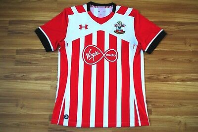 SOUTHAMPTON ENGLAND HOME FOOTBALL SHIRT 2016-2017 JERSEY SIZE LARGE UNDER ARMOUR image