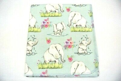 Elephants Hearts Baby Blanket Can Be Personalized Double Sided 36x40