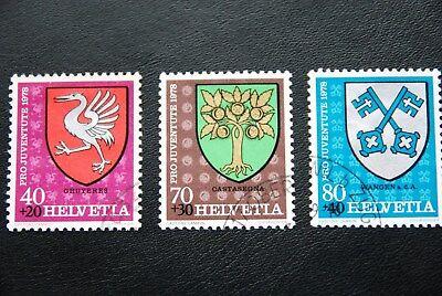 Schweiz, 1978, Wappen (3 Marken gestempelt)