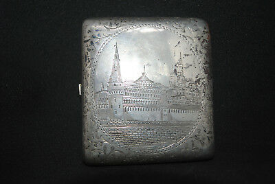 Antique Russia Silver 84 Cigarette Case