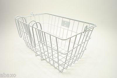Bicycle Bike Handlebar Wire Shopping Basket Classic Retro White