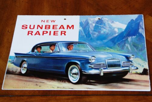 Sunbeam Rapier Series III brochure Prospekt, 1959 (German text)