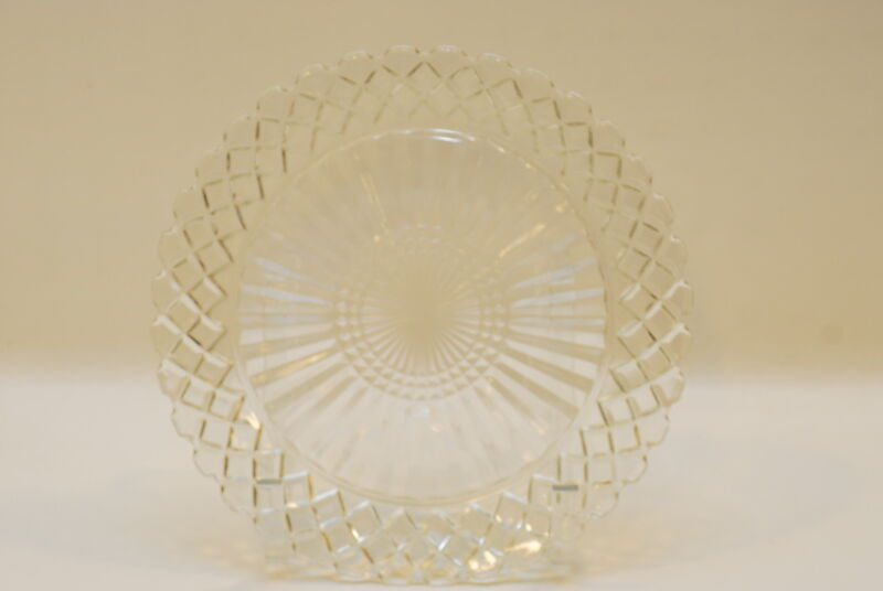 4 Hocking Waterford / Waffle Clear Dinner Plate Plates 9.75 Inch