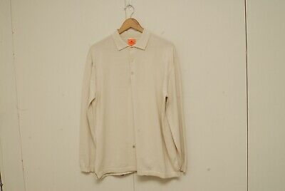 Andersen Andersen raw long sleeve polo L made in Italy cotton jersey