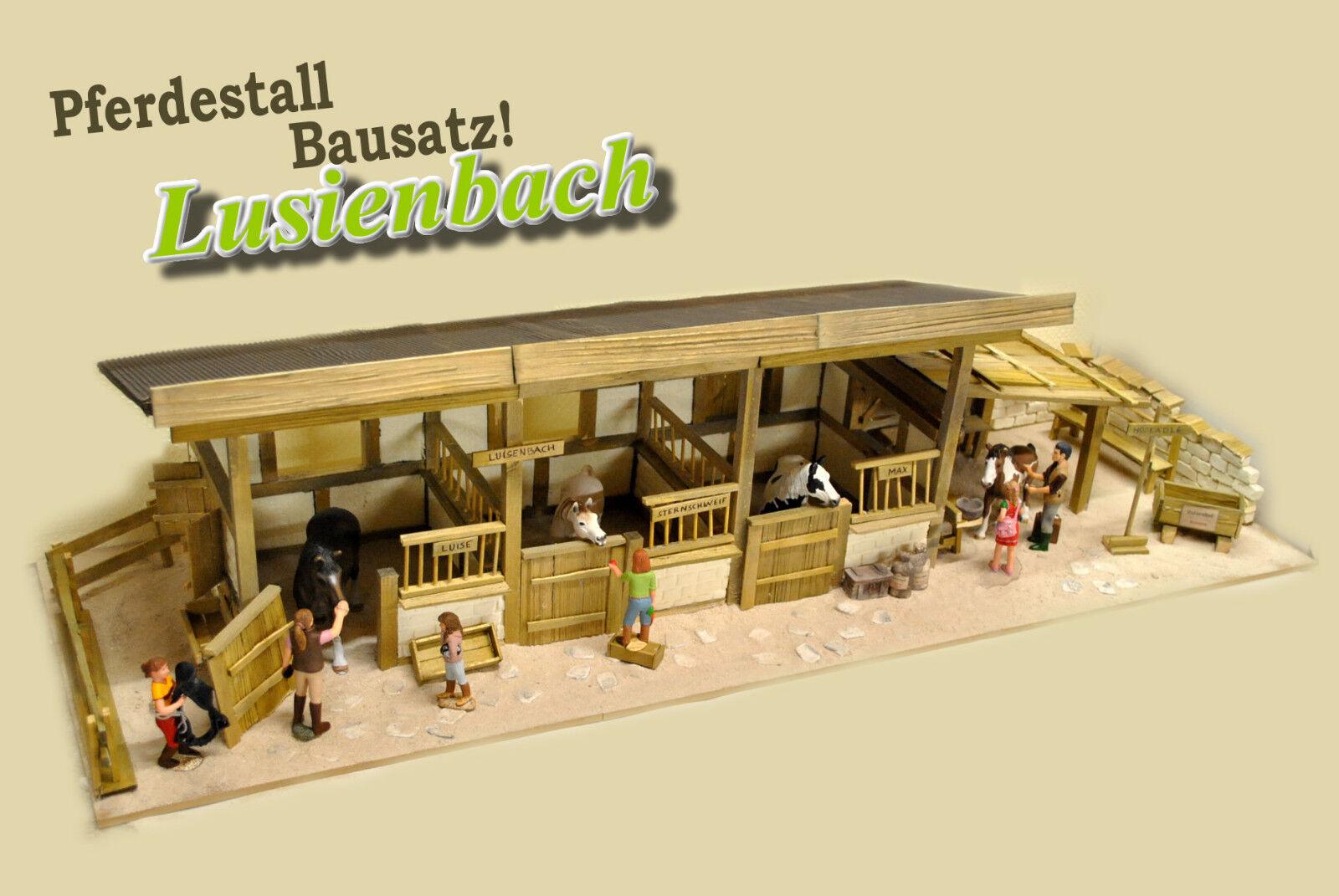 Pferdestall selber bauen Luisenbach, passend für Schleich Pferde