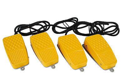 4 Pcs Temco Aluminum Foot Switch 10a Spdt Nonc Electric Pedal Momentary New Lot