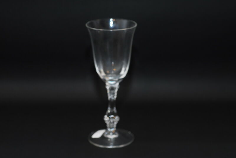 6 Cambridge #3121 Clear Optic Wine Claret Goblet Goblets 6.25 Inch