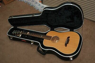 ALVAREZ MASTERWORKS SERIES MD610 SOLID WOOD TRAVEL ACOUSTIC GUITAR WITH SKB CASE