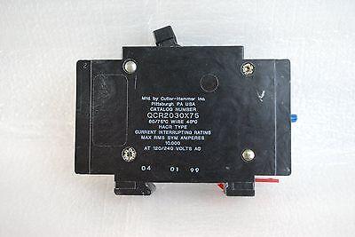 Cutler Hammer Qcr2030x75 30Amp Circuit Breaker