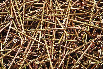 250 Torx T25 Star Flat Head 10 X 4 Yellow Zinc Type 17 Outdoor Wood Screw